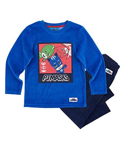 PJ Masks Chicos Pijama Velour - Azul - 104