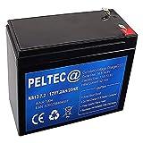 PELTEC@ Premium Blei AGM VLRA Akku Batterie 12V 7,2Ah 20HR 7.2AH ersetzt auch 7Ah 7,5Ah 7.5Ah, (zyklenfest + wartungsfrei)