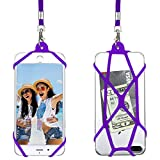Gear Beast Universal Web Cell Phone Lanyard Compatible with iPhone, Galaxy & Most Smartphones, Includes Phone Case Holder,Neck Strap (Purple)