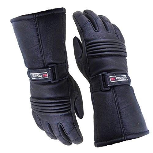 Australian Bikers Gear da uomo, in pelle, inserti etichettati impermeabile, invernali, termici, Thinsulate-Guanti da moto, misura XL