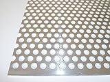 B&T Metall Lamiera forata in alluminio, spessore: 2 mm, diametro fori: 8 mm, allineamento fori sfalsato, RV 8-12