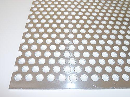 B&T Metall Aluminium Lochblech 2,0 mm stark Rundlochung Ø 8 mm versetzt RV 8-12 Größe 40 x 40 cm (400 x 400 mm)