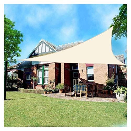 ZXD Toldo Vela De Sombra Triángulo Exterior Impermeable Protector Solar UV Toldo De HDPE con Kit De Fijación para Fiesta En El Patio En El Jardín Al Aire Libre (Color : Beige, Size : 3x4x5m)