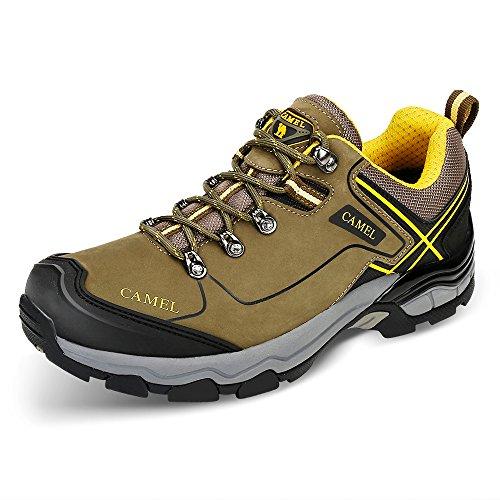 CAMEL Zapatos de Trekking para Hombres Low-Top Zapatillas de Senderism