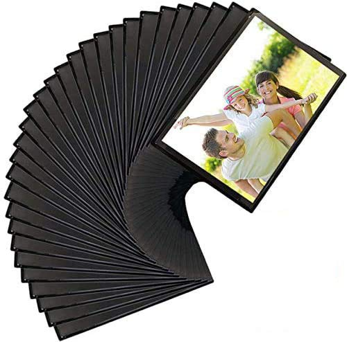 Magnetic Photo Pockets, 32 Pack Magnetic Picture Frame, Fits 4 X 6 Inch Photos, Photo Pocket Sleeve for Refrigerator