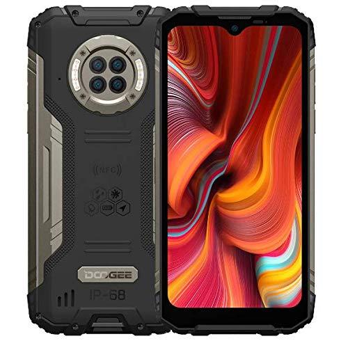 DOOGEE S96 PRO IR Nachtsicht Outdoor Smartphone ohne Vertrag, Helio G90 Octa Core 8GB RAM 128GB ROM, 48MP Quad-Kamera (20MP Infrarot), 6,22\'\' IP68-Handy 6350mAh Akku(Kabellose Ladung) NFC Schwarz