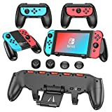 Switch Grips Bundle Accesories Kit Compatible with Nintendo Switch, OIVO 3 in 1 Grips Bundle with Comfort Grip, Asymmetrical Grip, Joy-Con Grip
