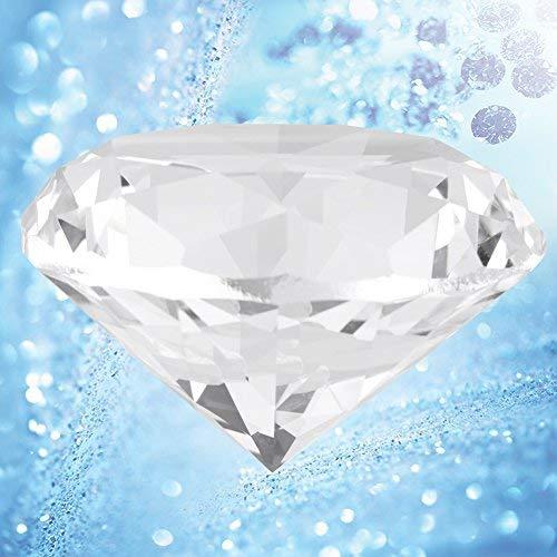 HEEPDD Piedra de Diamante sintético de 60 mm Diamantes de imitación Redondos Grandes Cristal Transparente Cristal Artificial Joyas pisapapeles para la decoración de la Oficina en casa