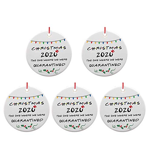 Mingbai-Christmas Decorations-Christmas Tree- Hanging Pendant Ornaments, Personalize Shaped Embellishments, Quarantine Christmas Keepsake, 2020 Creative Gifts, Decor for Home(1/5/10PC) (B)
