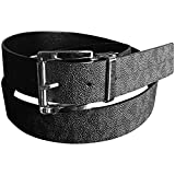 Michael Kors Womens Mk Reversible Belt Logo Black Silver Buckle XL