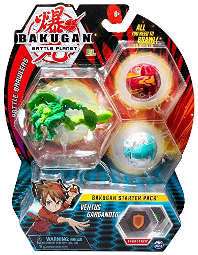 Bakugan Starter Pack 3-Pack, Ventus Garganoid, Collectible Transforming Creatures, for Ages 6 and Up