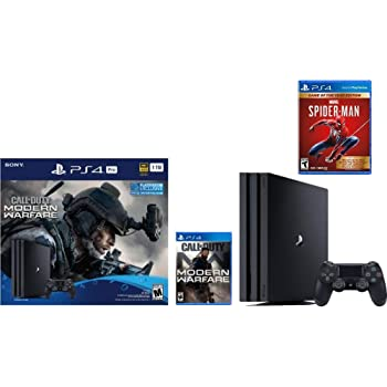 Newest Sony PlayStation 4 Pro 1TB Console Call of Duty: Modern Warfare Bundle W /Game :Marvel's Spider-Man: Game of The Year Edition