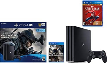 Newest Sony PlayStation 4 Pro 1TB Console Call of Duty: Modern Warfare Bundle W /Game :Marvel's Spider-Man: Game of The Ye...