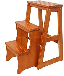 IVHJLP Folding Ladder Ladder Stool Solid Wood Multifunction Storage Swing Rocker Entry Library Bench Home Page 2/3 Stages...