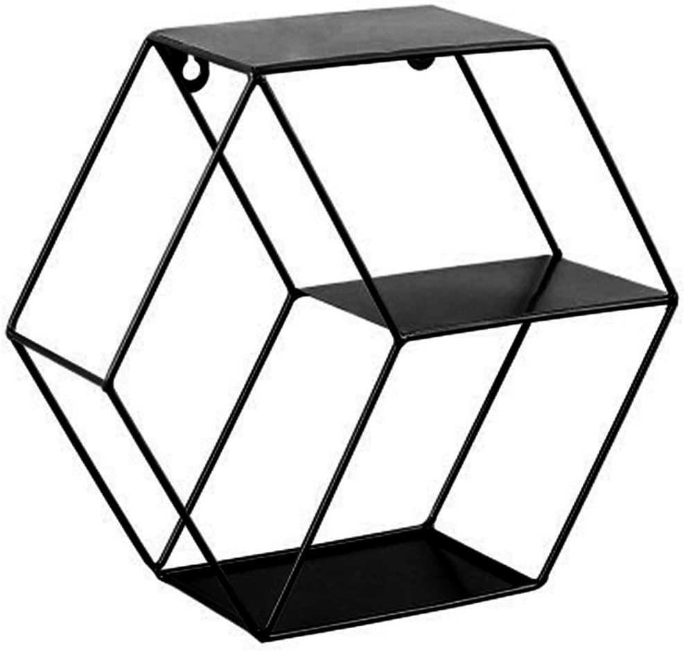 YEZININHAO Hexagon Floating Shelves Wall Metal Financial sales low-pricing sale Wire Rack Mounted