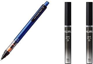 Uni Mechanical Pencil Kurutoga Pipe Slide Model 0.5mm Blue Body (M54521P.33) + Lead 2 set (U05203HB.24)