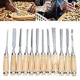 12 Set Holzschnitzwerkzeuge für professionelle Holzschnitzerei Meißel - Toll für Heimwerker und...
