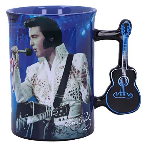 Nemesis Now Blue Mug Elvis The King of Rock and Roll Becher Blau, 453,6 g (16 oz)