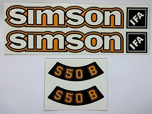 6 Stück AUFKLEBER Simson S 50 IFa ocker im DDR Stil Sticker Simme