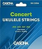 CASCHA Corde per ukulele da concerto, set con 4 corde (G C E A)