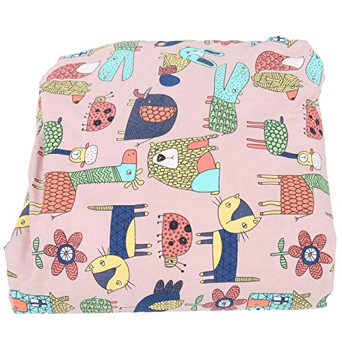 Manta de bebé, manta de cochecito portátil duradera lavable, para asientos de coche de bebé Cochecitos de bebé Almohadillas para pañales(Pink Magic Animal City)