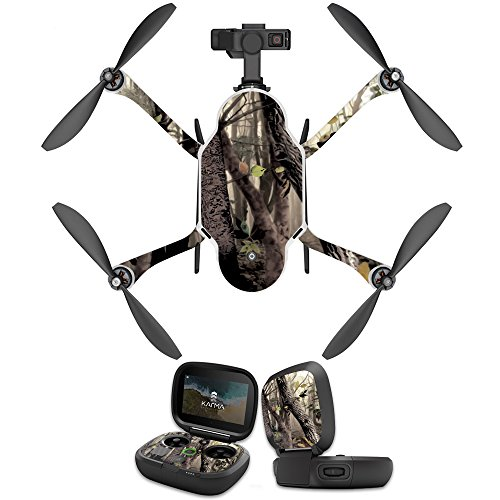 MightySkins Skin Compatible with GoPro Karma Drone Headphones wrap Cover Sticker Skins Tree Camo