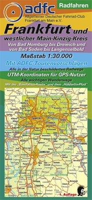 Radwanderkarte - Radfahren - Frankfurt und westlicher Main-Kinzig-Kreis: Von Bad Homburg bis Dreieich und von Bad Soden bis Langenselbold. Mit ... und dem Hölderlin-Pfad. 1:30000