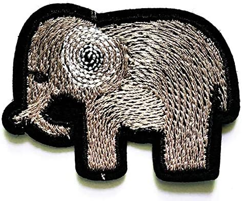 Nipitshop Patches Elephant Safri Animal Patch for Cartoon Kids Patch Ideal for adorning Your Jeans Hats Bags Jackets Shirts or Gift Set