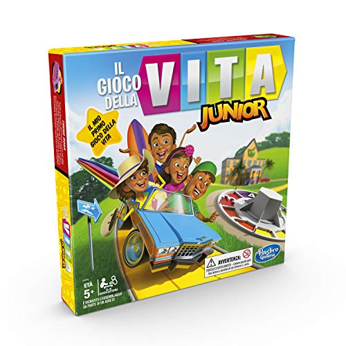 Hasbro Gaming Il Gioco della Vita Junior (Gioco in scatola per bambini da 5 anni in su, versione 2020 in italiano)