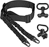 Theopot 2 Point Sling and Qucik Release QD Sling Mount Swivel,QD Sling Mount Sling Swivel with Base 20mm Picatinny Rail.