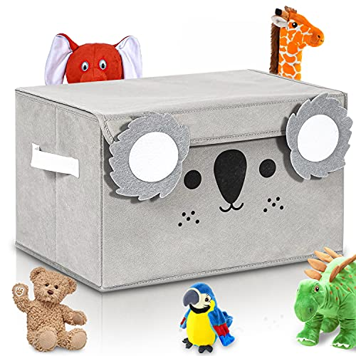 Katabird Toy Storage Box for Kids and Baby - Collapsible Koala Toy Chest Organizer for Boys & Girls with Flip-Top Lid - Toy Bin to Keep Nursery and Playroom Fun & Tidy