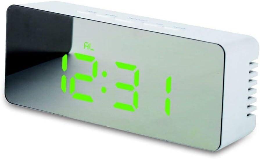 XKMY Table Clock Max 61% OFF Alarm Snooze LED Max 47% OFF Mirror Digital Tim