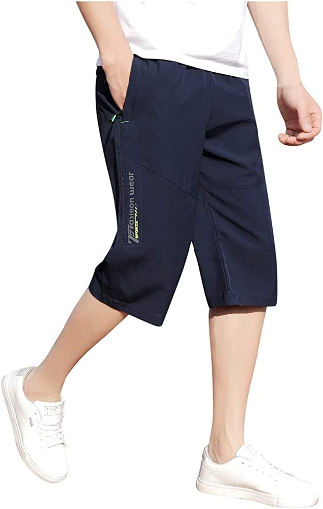 Men's 7 Inch Inseam Casual Shorts Relaxed Fit Quick Dry Summer