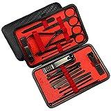 Sifan Maniküre Set Pediküre Kit Nagelknipser Profi Grooming Kit Nagelwerkzeuge 18 in 1 mit Luxuriöser Reiseetui für Damen und Herren 2020 Upgraded Version