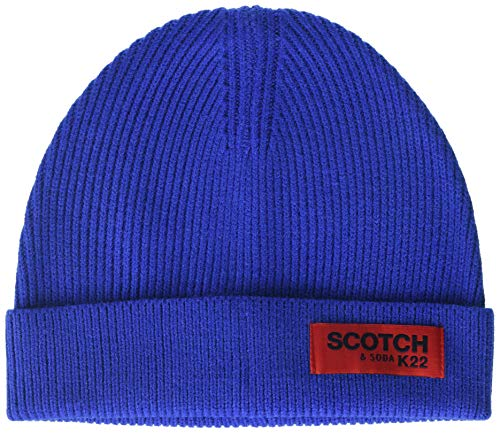 Scotch & Soda Herren Classic Rib Knit Beanie Baseball Cap, Blau (Star Blue 3200), One Size (Herstellergröße: OS)
