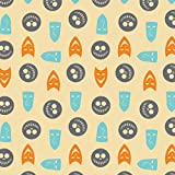 Disney Fabric The Nightmare Before Christmas Master of Fright Troublemaker Masks 100% Premium Quality Cotton Fabric by The Yard Sold by The Yard