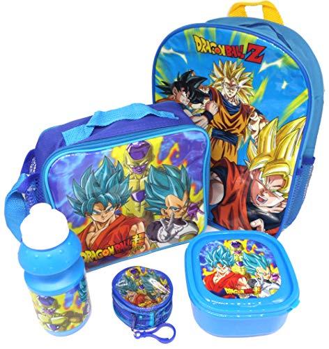 Dragon Ball Z Set De Regalo Mochila   Billetera   Bolsa Aislante   Botella Para Beber