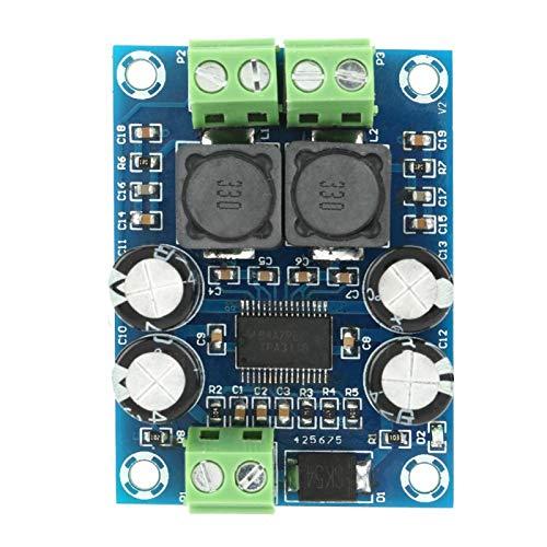 Placa amplificadora digital, Mini placa amplificadora TPA3118 Módulo amplificador de potencia de audio digital 60W DC10-24V, para televisores, monitores, ordenadores portátiles, altavoces portátiles