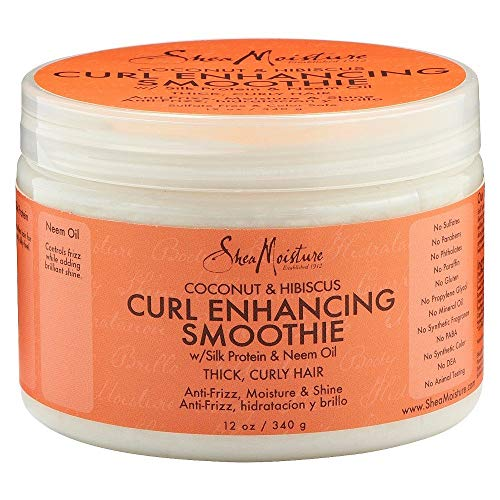 SheaMoisture Coconut & Hibiscus Curl Enhancing Smoothie 12 Ounces (Pack of 2) by Shea Moisture