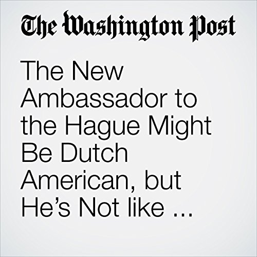 The New Ambassador to the Hague Might Be Dutch American, but He's Not like Anyone the Dutch Ever Met copertina