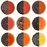 VAHDAM, Muestra de Té Negro - 10 TEAS, 50 porciones | Ingredientes 100% naturales | Alta cafeína, reemplazo de café saludable | Cerveza caliente, helado, té de Kombucha | Hojas de té negro suelto