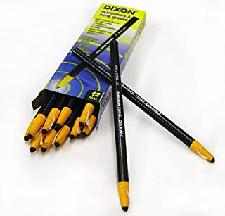 Dixon 00077 China Markers, Black, 12-Pack