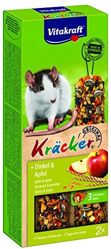 Vitakraft Kräcker für Ratten, mit Dinkel und Apfel (1 x 2 Stück)