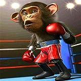Yingxin34 2000 Piezas Puzzle Chimpancé en el Ring de Boxeo Puzzle conmemorativo