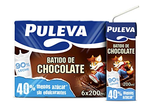 Puleva Batido de Chocolate - Pack de 6 x 200 ml - Total: 1200 ml