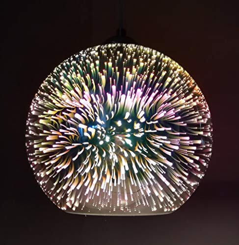 Modern Novelty Glass Ball Pendant Lights - 3D Colorful Pendant Lighting Hanging Light Fixture E27 Lampshade(Bulb Not Included)