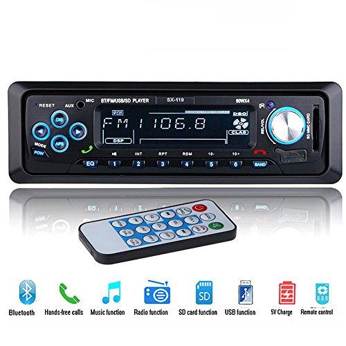 PolarLander 12V Bluetooth Autoradio Lecteur Stéréo FM MP3 USB SD AUX Audio Auto Électronique Autoradio 1 DIN