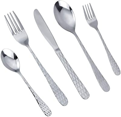 Juego de 30 tenedores de tenedores acero inoxidable, 19 cm, incluye pegatina de la suerte