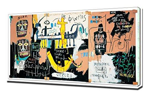 History of The Black People - Jean Michel Basquiat - Impression sur Toile - Image sur Toile - Impression Giclée