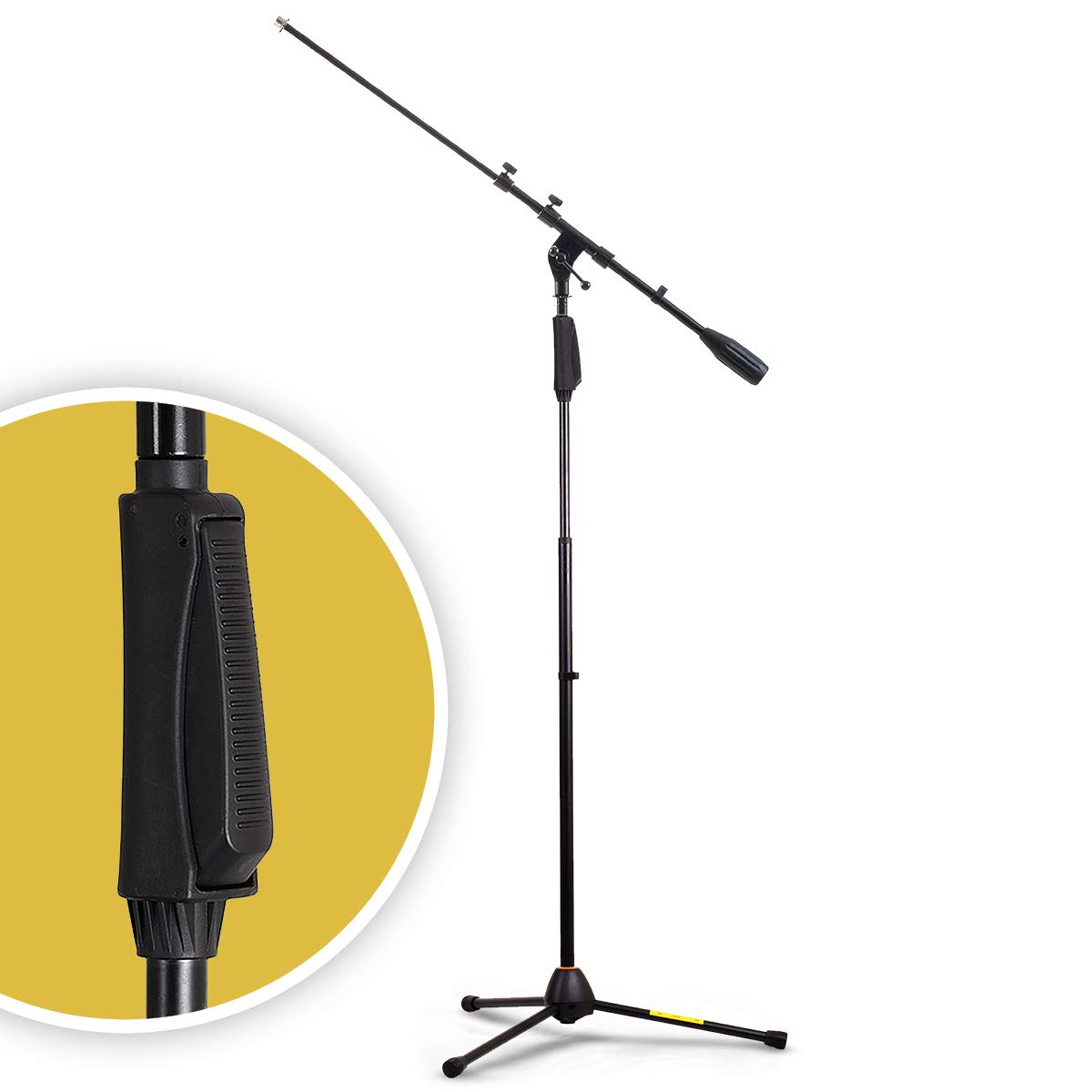 Round Base One Handed Microphone StandAdjustable heightOne Handed Grip